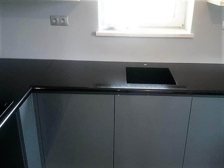 Blat kuchenny z granitu ze zlewem PREMIUM BLACK – POLER